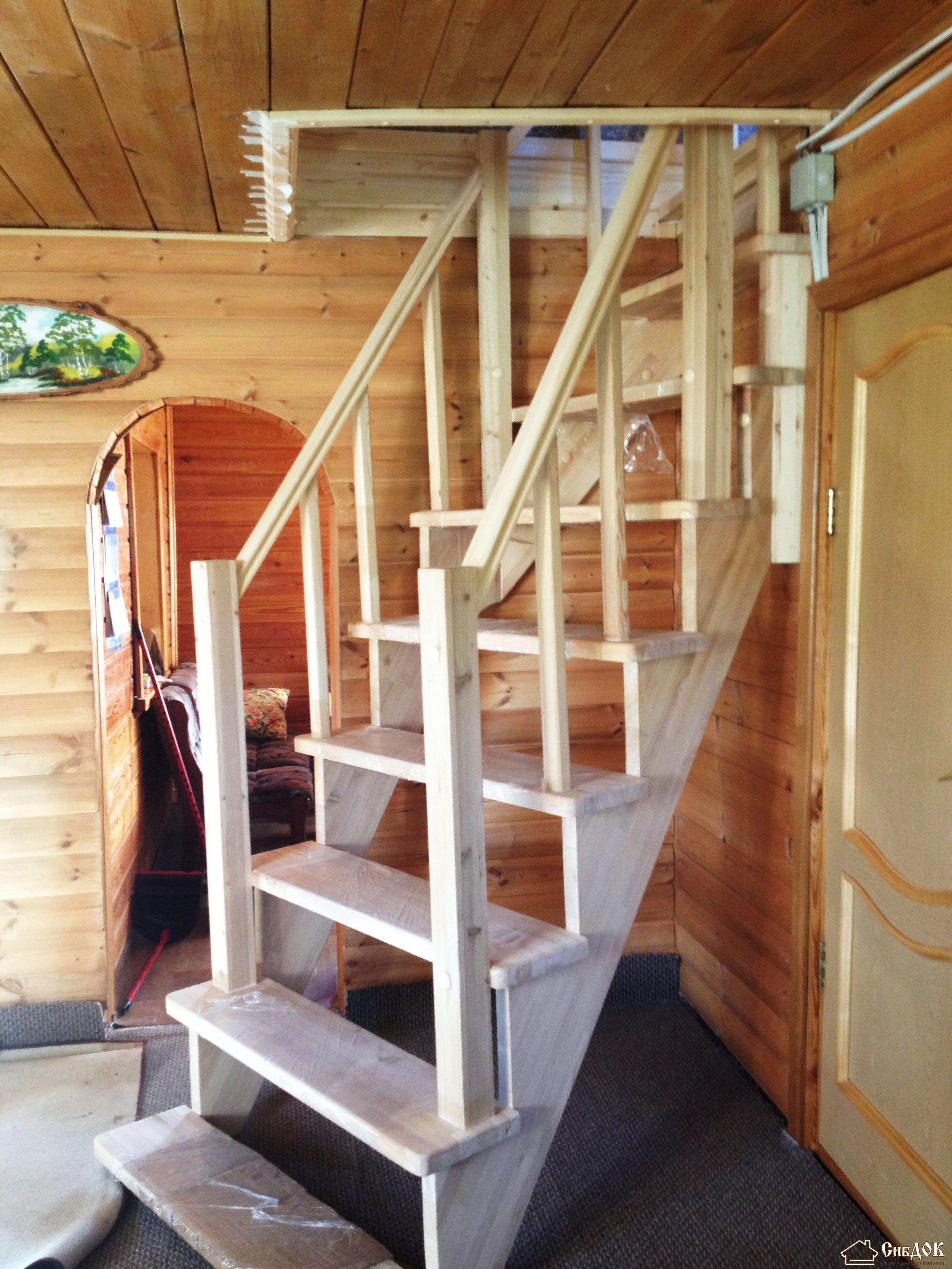 Лестница у окна на второй этаж своими руками 100